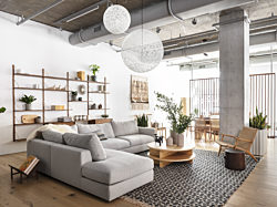 First-floor retail experience at Design Within Reach in Herman Miller's new location at Fulton Market in Chicago, 2021. Courtesy of Herman Miller.